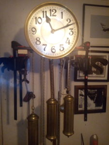 art deco longcase clock